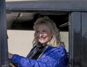 Current photo of Karolyn Grimes in vehicle