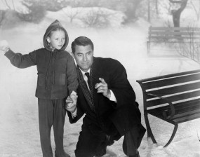 Karolyn Grimes and Cary Grant in The Bishop's Wife