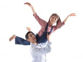 Two dancers performing The Velveteen Rabbit