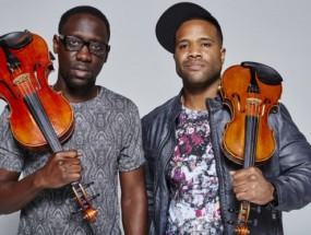 Black Violin members Wil B. and Key Marcus are pictured here.
