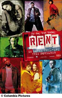 Poster of the movie musical RENT