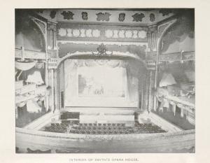 Original interior of the Smith Opera House