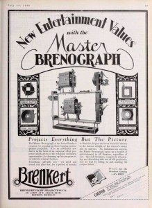 Ad for Master Brenograph F7, 1928.
