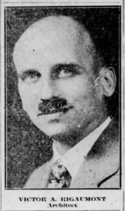 Photograph of Victor Rigaumont, Architect, from Ithaca Journal article about the creation of the State Theatre in Ithaca, Dec. 5, 1928.