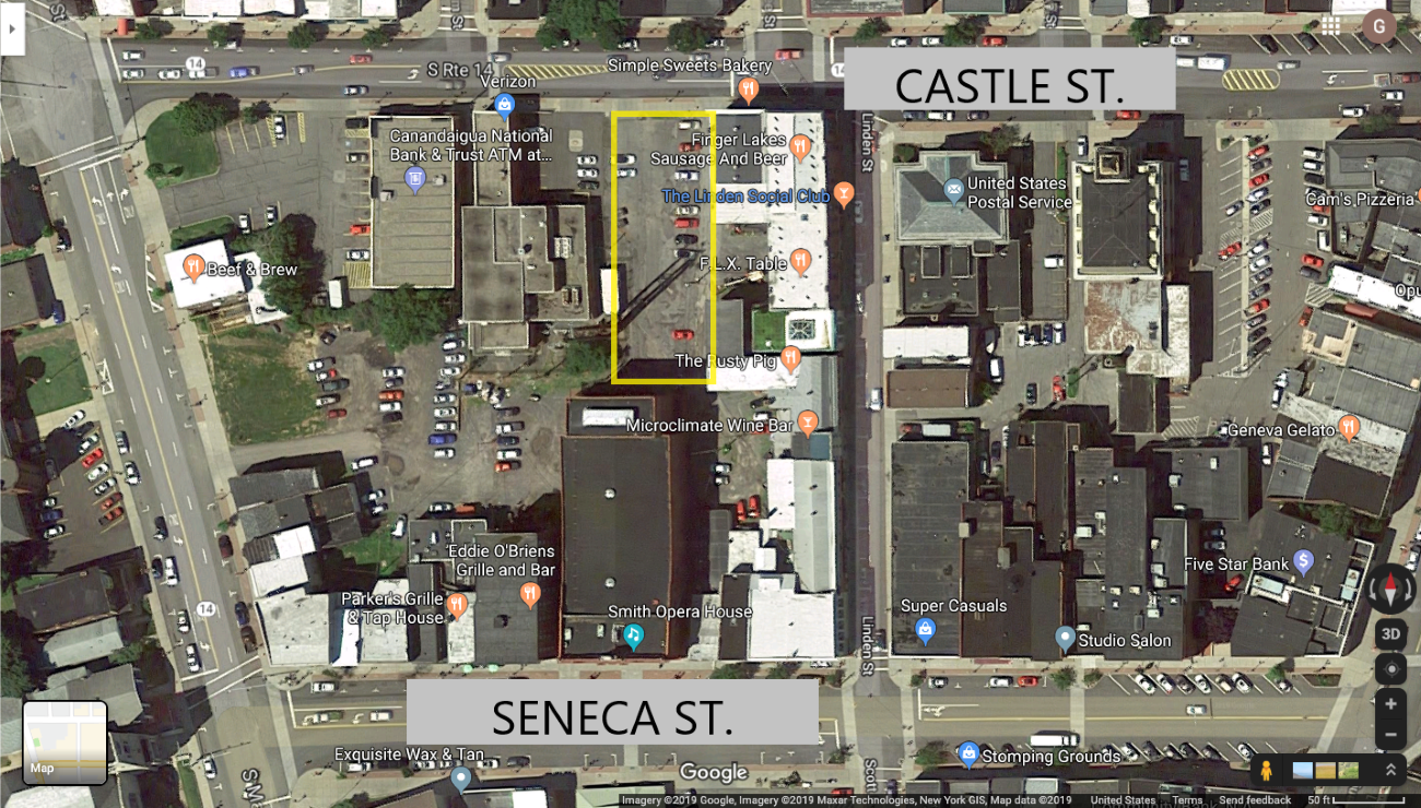 Satellite Map of Castle and Seneca streets