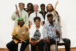 The Skatalites pose for a group photo